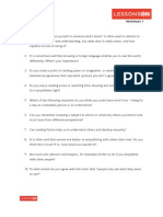 Points of View Worksheet 1