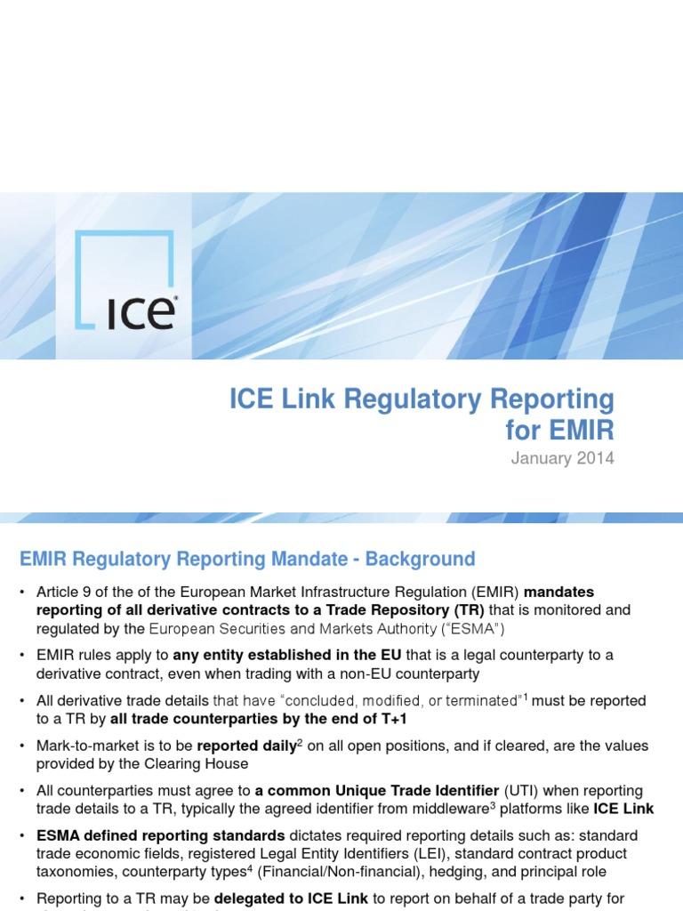 Icelink Regulatory Reporting Emir Securities Finance Economies