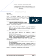 Código Deontológico Del Colegio de Ingenieros Del Perú