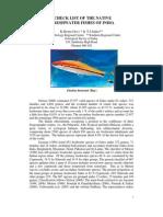 Native Freshwater Fishes of India