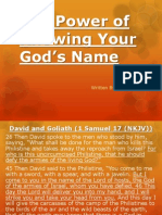 The Power of Knowing Your God's Name