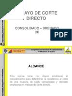 Ensayo de Corte Directo (Consolidado - Drenado)