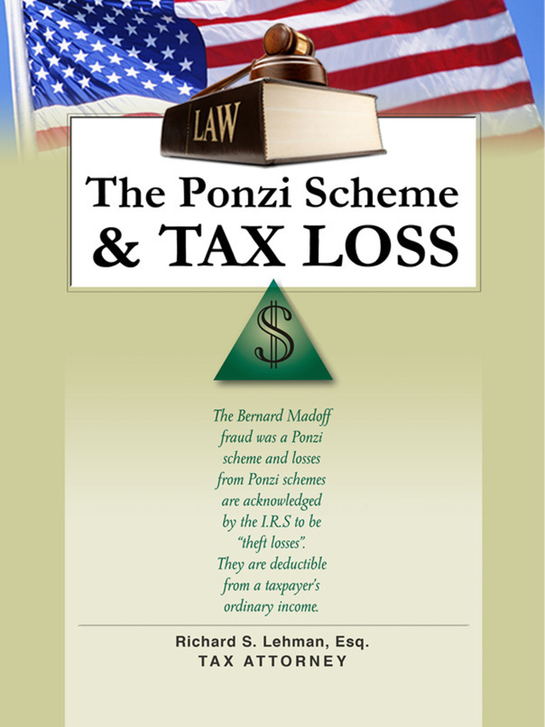 the ponzi scheme and tax loss | tax deduction | income tax in the