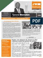 Printemps/été 2014 — Bulletin parlementaire de Tyrone Benskin, version française