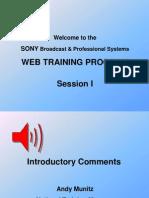 Training - Webcast Session #1 Cameras
