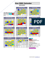 2014-2015  calendar - blue gold