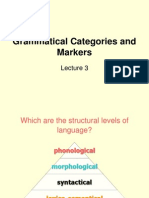 3 Grammatical Categories and Markers