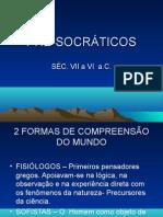 Pre-socraticos - sofistas