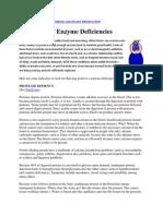 Enzyme Deficiencies
