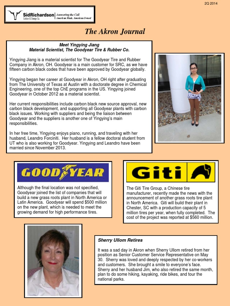 Akron Journal 2Q14 | Goodyear Tire And Rubber Company | Air