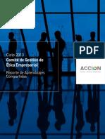Ciclo 2013 Comité de Gestión de Ética Empresarial-ACCIÓN