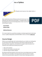 Designing Your Course and Syllabus | Center for Teaching and Learning