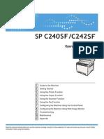 Ricoh SP C240SF/C242SF User Guide