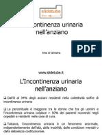 Incontinenza+urinaria+nell'anziano