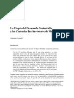 La Utopc3ada Del Desarrollo Sustentable y Las Carencias Institucionales