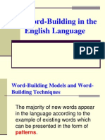 4 Word-Building in the English Language (Presentation for the Extra-mural Dpt) 1