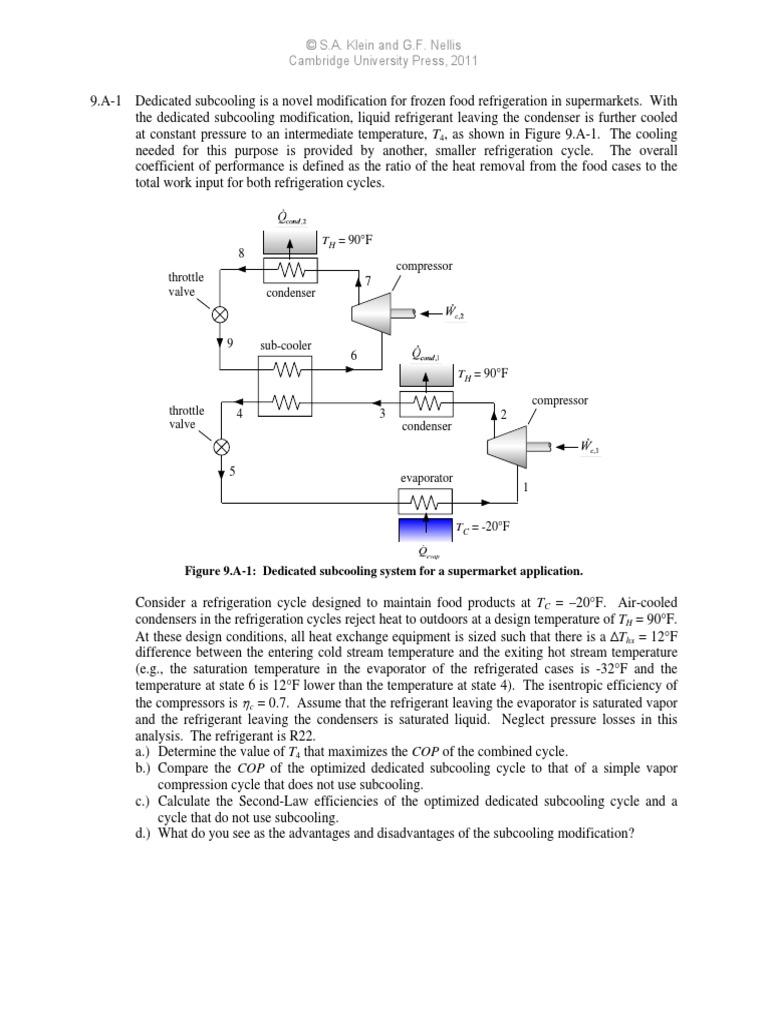 Problem Chapter 9 Gas Compressor Heat Exchanger Ammonia Pressure Enthalpy Diagram On Refrigerator Wiring Type 2