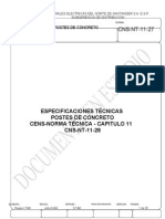 CNS NT 11 27 Postes de Concreto