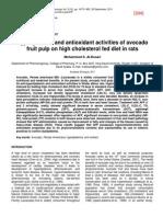 304] 2011 Al-Dosari -Hypolipidemic and antioxidant activities of avocado fruit pulp on high cholesterol fed rats.pdf