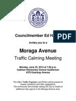 Moraga - Meeting Notice