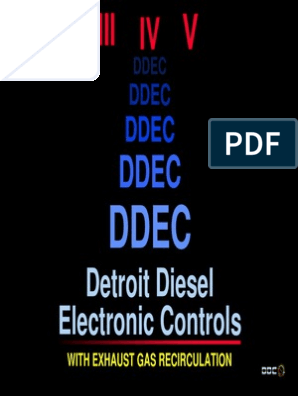 ddec iii iv v cl | Turbocharger | Fuel Economy In Automobiles J Wiring Diagrams For Detroit Sel on