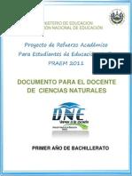 Actividades de Refuerzo - Ciencias Naturales - Segunda Prueba de Avance - Primer Año (PRAEM 2011)