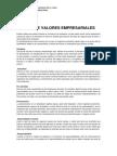 Lista de Valores Empresariales