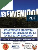 Conferencia Servicios t.i.-ing. Ronald Melgarejo Solis-unmsm