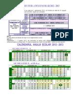 0 Structura Anului Scolar 2012 2013