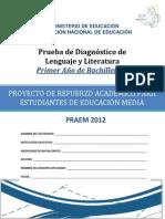 Prueba de Diagnóstico- Lenguaje y Literatura -Primer Año Bachillerato