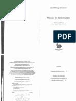 Missão Do Bibliotecário - Ortega y Gasset