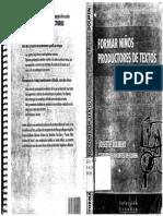 J.jolibert. Formar Niños Productores de Textos Cap 1-4