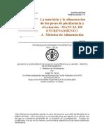 La Nutrición y La Alimentación de Los Peces de Piscifactoría y El Camarón - MANUAL de ENTRENAMIENTO