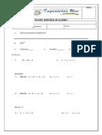 Examen Bimestral Matematica - (3 Grado) Algebra...