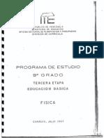 Programa de Fisica de 3er Año