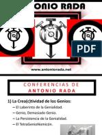Carpeta de Conferencias Disponibles y Precios de Antonio Rada 2014