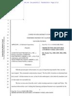 Order regarding Samsung Sanctions Fees