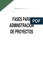 Fases de La Administracion de Proyectos