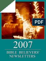 Bible Believers' Newsletters 2007