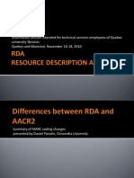 6 CREPUQ Differences Between RDA and AACR2 Paradis