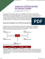 Ejercicio de Subneteo Con VLSM de Una Red Clase a - Calcular Máscara Variable
