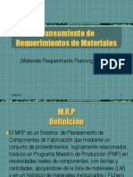 Planeamiento de Requerimientos de Materiales