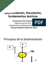 Sedimentación teoria