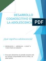 Desarrollo Cognoscistivo Del Adolescente
