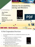 IDUG Solution Presentation May 2005