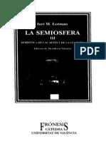 Lotman i 1998 Semiosfera III