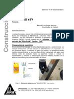 Tanque Y&v 13 Sustrato Ferroso