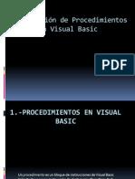 Programación de Procedimientos en Visual Basic