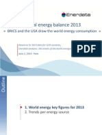 World Energy Balance 2013 Enerdata