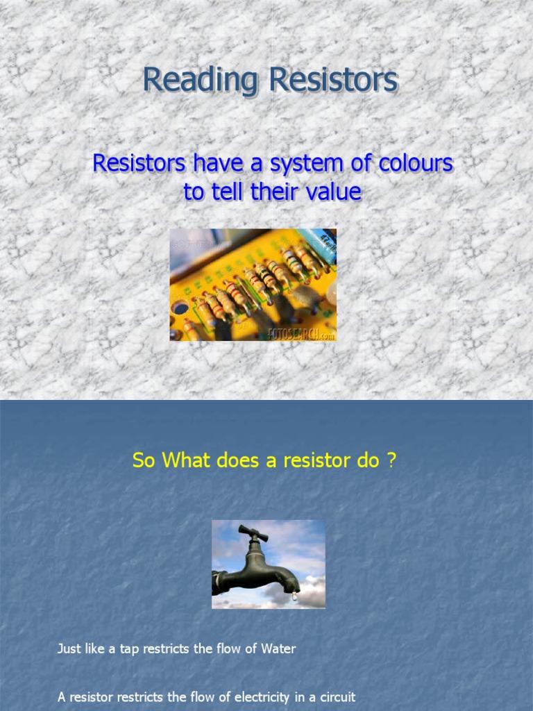 reading resistors   Resistor   Engineering Tolerance